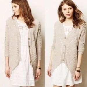 Anthropologie Moth Theca Handkerchief Cardigan